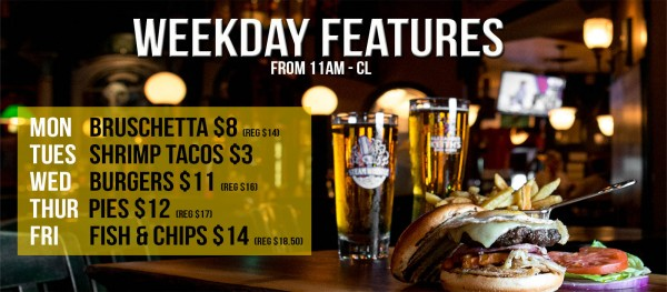 weekday features